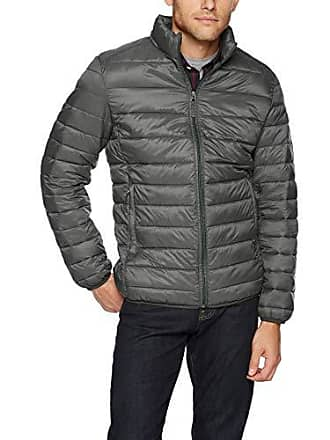 Amazon Essentials Mens Lightweight Water-Resistant Packable Puffer Jacket, Charcoal Heather, Small