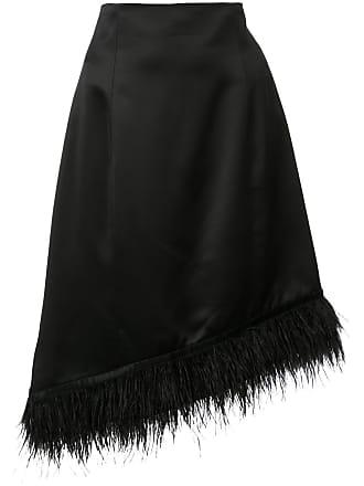 Natori Saia assimétrica com plumas - Preto