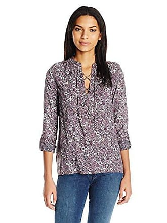 William Rast Womens Lily Lace Front Blouse Whartonpsly, Grape Wine Romance, S