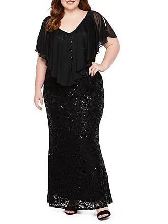 66a23cd25cc0 Blu Sage Blu Sage Stretch Lace Gown with Chiffon Popover - Plus