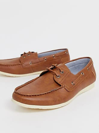 New Look faux leather boat shoes in tan - Tan