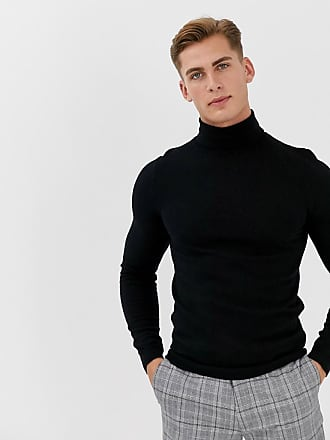 pull col roulé homme rayures