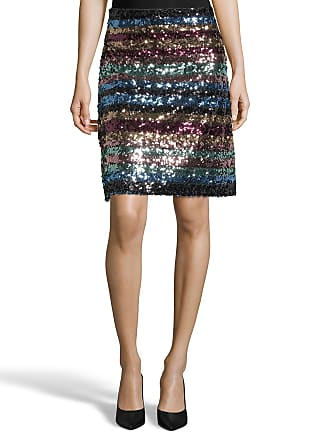 5twelve Striped Sequin A-Line Skirt