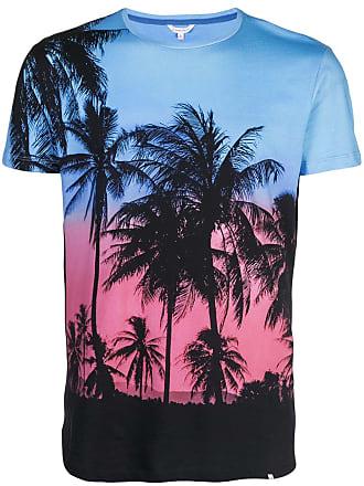 Orlebar Brown Camiseta com estampa de palmeira - Azul