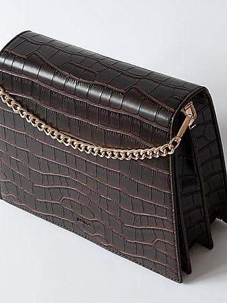 Jeenaa Jeele Croc-Brown Bag