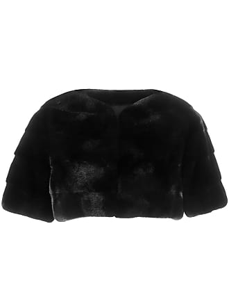 Liska mink fur bolero jacket - Black