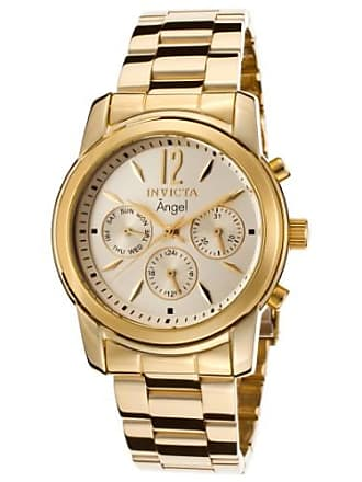 Invicta Womens Angel Multi-Function 18K GP SS Gold-Tone Dial 18K GP SS