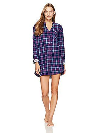 Tommy Hilfiger Womens Sleepdress Nightshirt Pajama Sleepshirt Pj, Catalano Plaid Navy Large