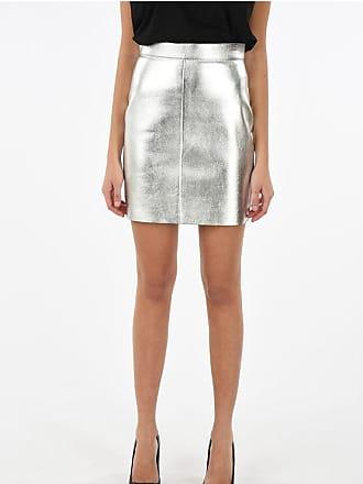 Celine back-zip fastening leather pencil skirt Größe 40