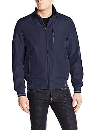 Perry Ellis Mens Bonded Jacket, Navy, XX-Large