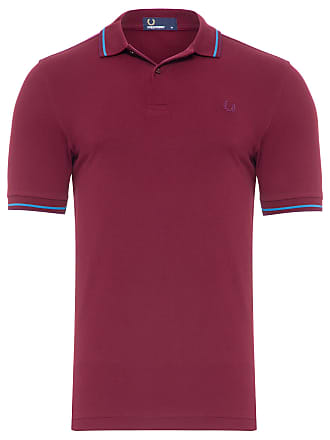Fred Perry POLO MASCULINA TWIN TIPPED - VINHO