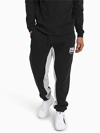 Puma Press Knitted Fleece Mens Sweatpants, Black/Lgh, size 2X Large, Clothing