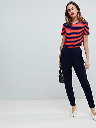 Y.A.S tailored pants with elasticated waist in navy - Navy