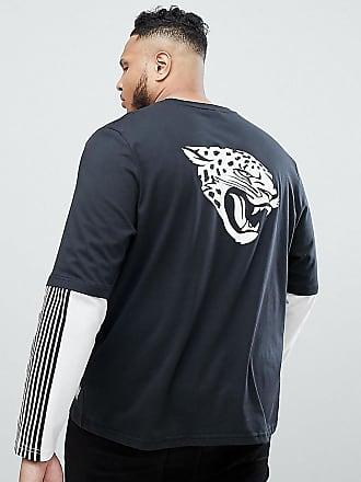 Majestic Jacksonville Jaguars Oversized Layered Long Sleeve T-Shirt In Black c6efe7790