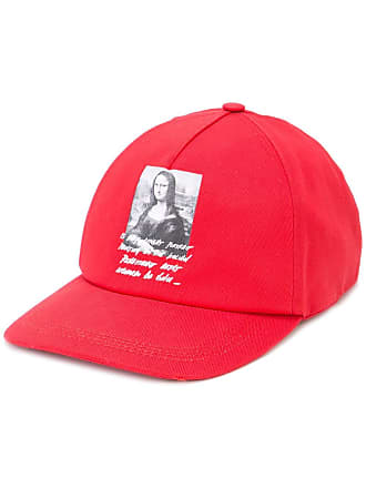 Off-white Mona Lisa printed cap - Red
