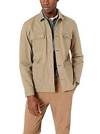 Amazon Essentials Mens Standard Shirt Jacket, Khaki, Large