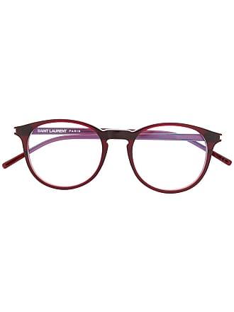 Saint Laurent Eyewear round frame glasses - Vermelho