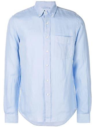 Aspesi Camisa slim mangas longas - Azul