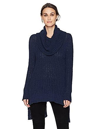 Bcbgmaxazria Womens Jules Knit Split-Back Turtleneck, Dark Navy L