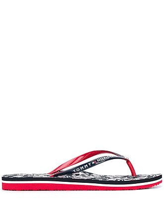 Tommy Hilfiger logo flip-flops - Azul