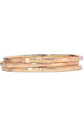 Kenneth Jay Lane Kenneth Jay Lane Woman Set Of Three Brushed 22-karat Gold-plated Bangles Gold Size