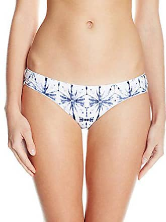 Quintsoul Womens Ink and Water Low Rise Cheeky Bikini Bottom with Cinching, Navy, Medium