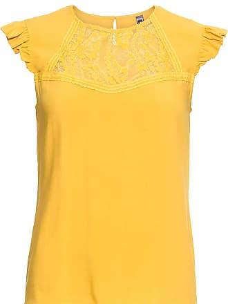 2de71ba3fd6717 Bonprix Bluse mit Spitze kurzer Arm in gelb von bonprix