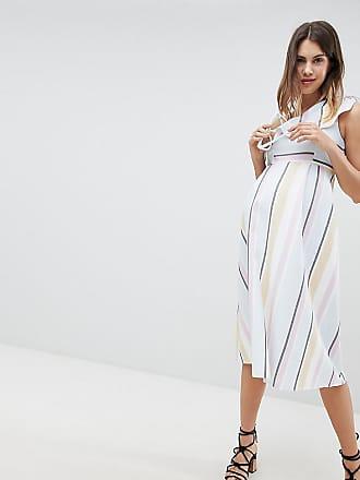 85f7af6c67fd5 Asos Maternity ASOS DESIGN Maternity - Robe mi-longue asymétrique à rayures  pastel - Multi