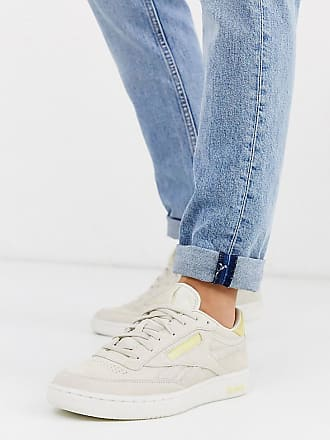 Reebok Club C - Sneaker aus Premium-Wildleder mit transparenter Sohle, exklusiv bei ASOS-Grau