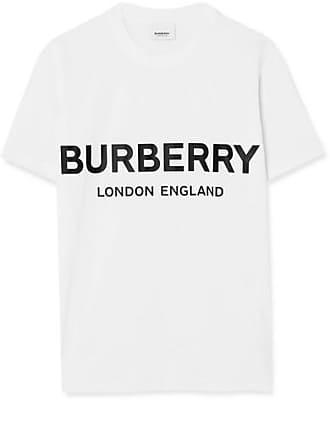 964e15cd8d5 Burberry T-shirt En Jersey De Coton Imprimé - Blanc