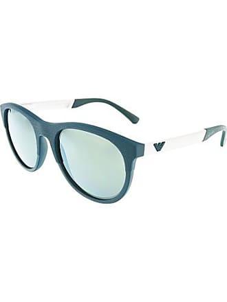 3d9386ec835d9 Emporio Armani Mens EA4084-55586R-56 Blue Oval Sunglasses