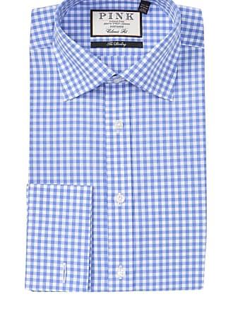 9b16f71c Thomas Pink Summer Gingham Print Classic Fit Dress Shirt