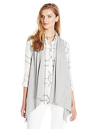 Joan Vass Womens Drape Front Vest, Pearl, 3