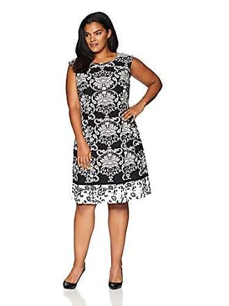 bd5e475ae88 Sandra Darren Womens 1 PC Plus Size Extended Shoulder Scuba Crepe Dress