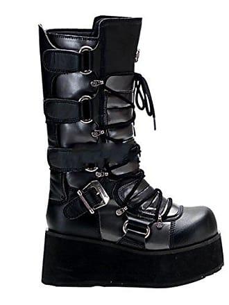 ac22e14916847a Demonia Trashville-519 - Gothic Punk Industrial Plateau Stiefel Schuhe  36-46