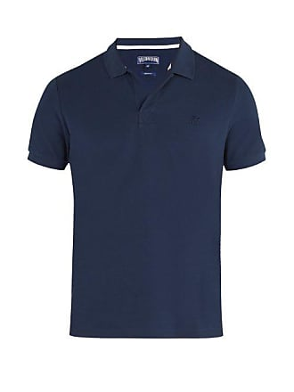 Vilebrequin Palatin Cotton Piqué Polo Shirt - Mens - Navy