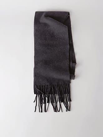 1eefcd540d7 Acne Studios Canada Skinny Mélange de noir Écharpe très étroite à franges