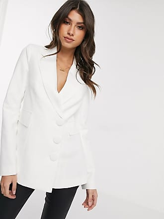 4th & Reckless blazer with open back in white