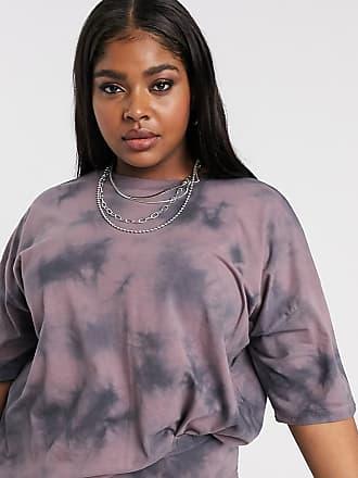 Asos Curve ASOS DESIGN Curve - Oversize-T-Shirt mit farblich abgestimmtem Batikmuster-Rosa