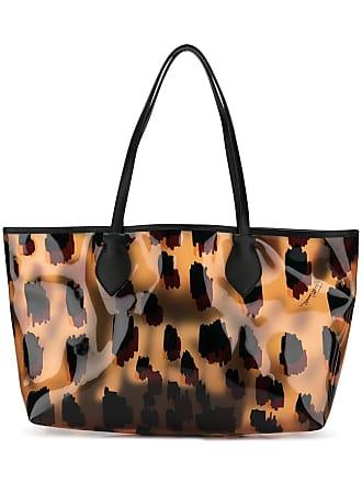 Just Cavalli Bolsa tote com animal print - Marrom
