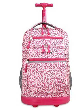 JWorld J World Sundance Leopard Print Laptop Rolling 20 Backpack - Red Jworld