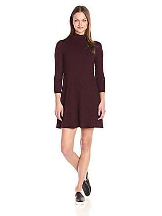 Michael Stars Womens 3/4 SLV Swing Dress, Pinot, L