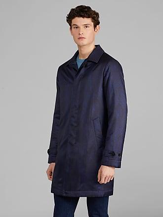 Etro Paisley Print Benetroessere Trench Coat, Man, Navy Blue, Size 46