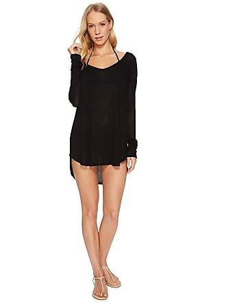 3999064be9 Vitamin A Drifter Beach Sweater Cover-Up (Black Drifter Beach Sweater) Womens  Swimwear