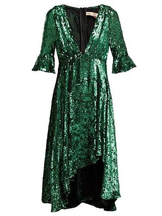 Maria Lucia Hohan Arielle Sequinned Tulle Dress - Womens - Green