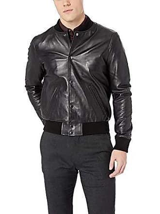 Joe's Mens Raffi Leather Bomber, Matte Black, XL