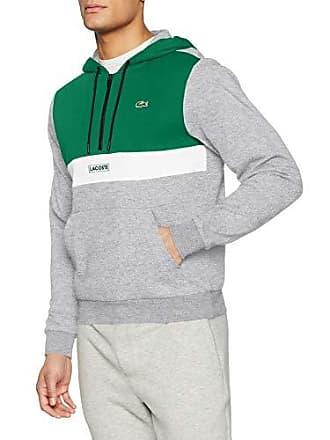 f0b1d489397b Lacoste Sport SH3505 Sweat-Shirt Homme Gris (Forest Argent Chiné-Blanc 9w5