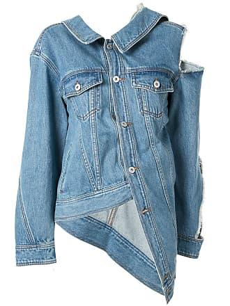 Ground-Zero Jaqueta jeans com recortes vazados - Azul