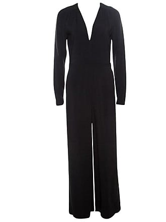47008a6ac2f Stella McCartney Stella Mccartney Black Gathered Shoulder Detail Long  Sleeve Jumpsuit S