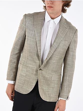 Corneliani giacca a 2 bottoni LEADER SOFT hopsack tasca a toppa taglia 50